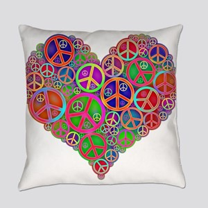 Peace and Love Everyday Pillow