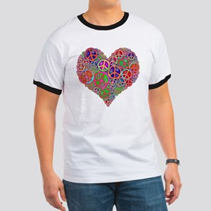 Peace and Love Ringer T