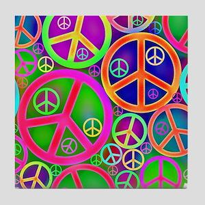 Peace and Love Tile Coaster