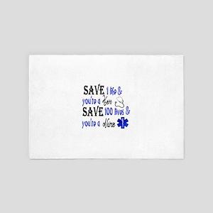 Nurse, Save 4' x 6' Rug