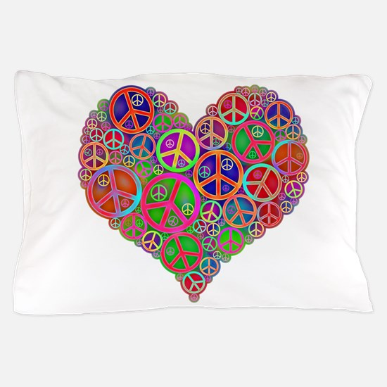 Peace and Love Pillow Case