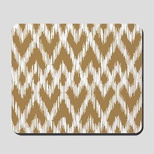 Ikat Pattern Brown Mousepad