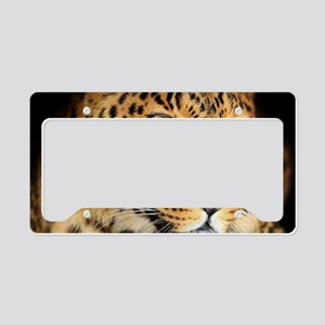Leopard Portrait License Plate Holder