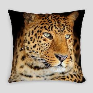 Leopard Portrait Everyday Pillow