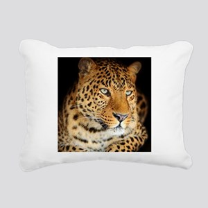 Leopard Portrait Rectangular Canvas Pillow