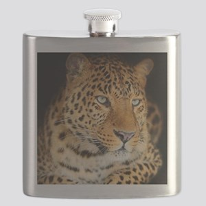 Leopard Portrait Flask