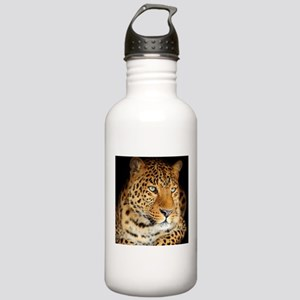 Leopard Portrait Water Bottle