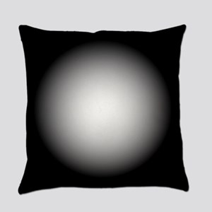 Black/White Radial Gradient Design Everyday Pillow