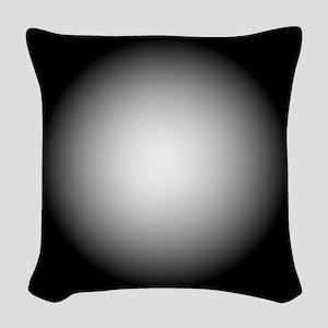 Black/White Radial Gradient Design Woven Throw Pil