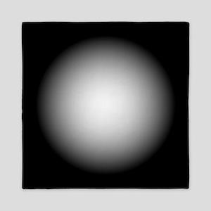Black/White Radial Gradient Design Queen Duvet
