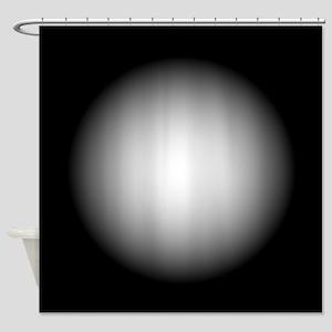 Black/White Radial Gradient Design Shower Curtain