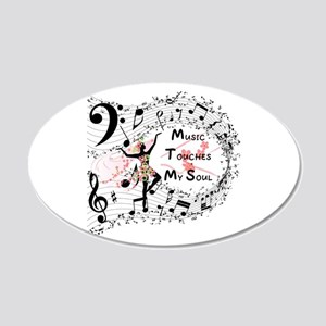 Music - 20x12 Oval Wall Decal