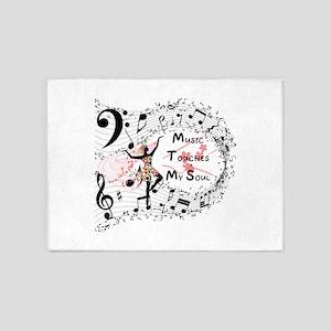 Music - 5'x7'Area Rug
