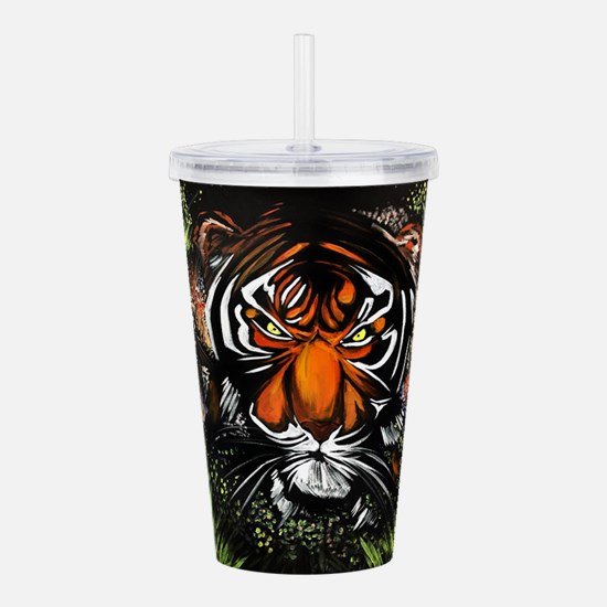 Tiger Stare Acrylic Double-wall Tumbler