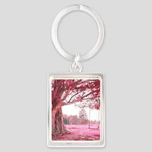 Pink Tree Swing Keychains