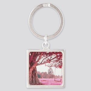 Pink Tree Swing Keychains
