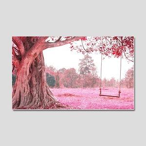 Pink Tree Swing Car Magnet 20 x 12