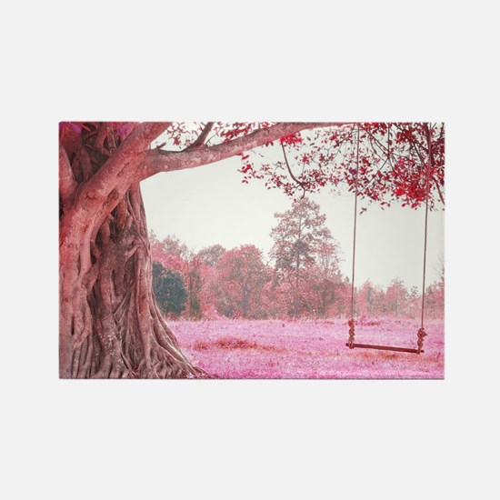 Pink Tree Swing Magnets