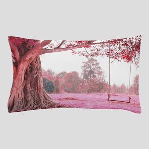 Pink Tree Swing Pillow Case