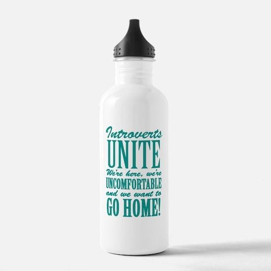 Introverts Unite Water Bottle