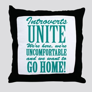 Introverts Unite Throw Pillow