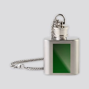 GreenBlackWhite Linear Gradient Flask Necklace