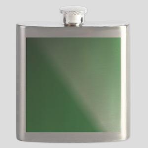GreenBlackWhite Linear Gradient Flask