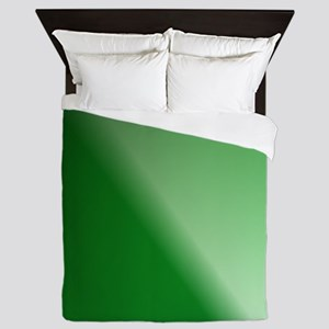 GreenBlackWhite Linear Gradient Queen Duvet
