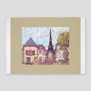 Paris Cityscape inspired landscape Eiffel Tower Sq