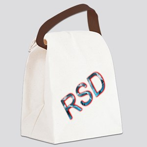 RSD Awareness Flaming Ice Text Canvas Lunch Bag