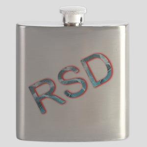 RSD Awareness Flaming Ice Text Flask