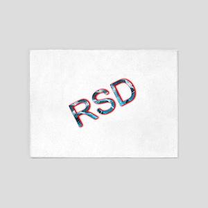 RSD Awareness Flaming Ice Text 5'x7'Area Rug