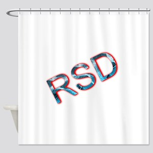 RSD Awareness Flaming Ice Text Shower Curtain