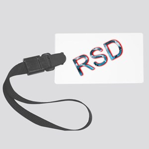 RSD Awareness Flaming Ice Text Large Luggage Tag