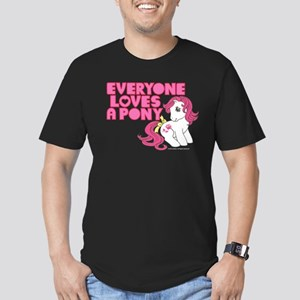 MLP Retro Everyone Lov Men's Fitted T-Shirt (dark)