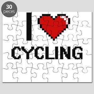 I Love Cycling Digital Design Puzzle