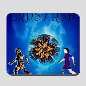 CRPS RSD Man & Woman with World A Blaze Mousepad