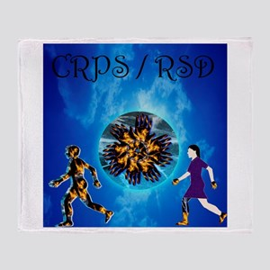 CRPS RSD Man & Woman with World A Bl Throw Blanket