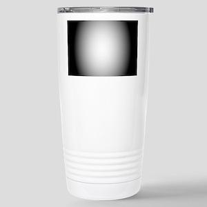 Black/White Radial Gradient Travel Mug