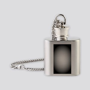 Black/White Radial Gradient Flask Necklace