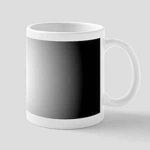 Black/White Radial Gradient Mugs