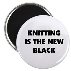 Knitting Is The New Black Magnet