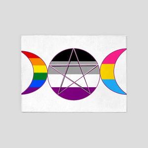Gay Pride DemiSexual PanSexual Goddess Pentacle 5'