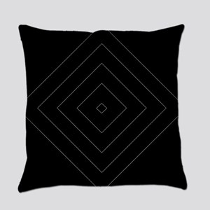 Black / Gray Diamond Design Everyday Pillow