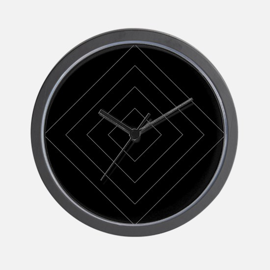 Black / Gray Diamond Design Wall Clock