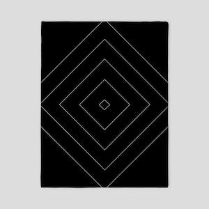 Black / Gray Diamond Design Twin Duvet