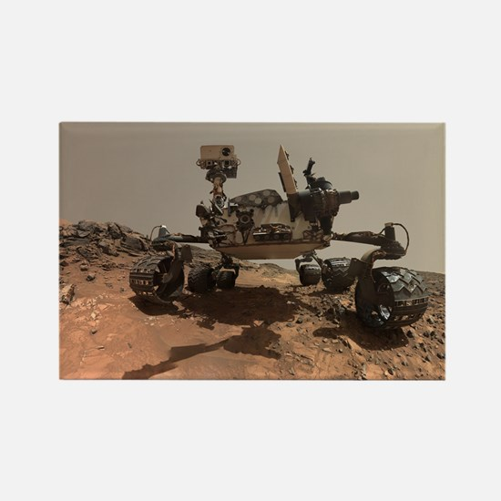 Mars Rover Curiosity Sel Rectangle Magnet
