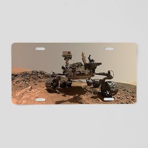 Mars Rover Curiosity Sel Aluminum License Plate