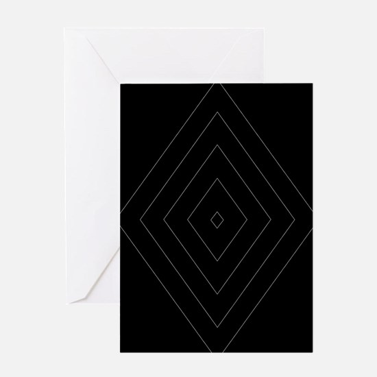 Black Gray Geometric Diamond Pattern Design Greeti