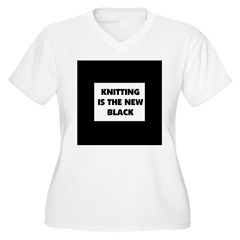 Knitting Is The New Black T-Shirt